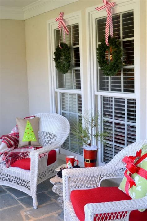 outdoor decoration ideas 46 beautiful christmas porch decorating ideas style estate