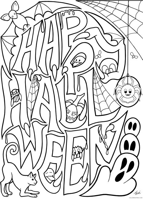 happy halloween coloring pages for older kids