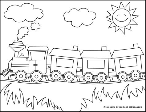 different transportation coloring page coloring pages
