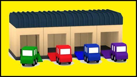 garage cartoon kid s cartoon cars hq garage construction demo shapes