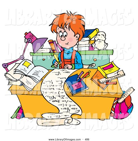 Homework Writer by Homework Clipart Writing Story Pencil And In Color
