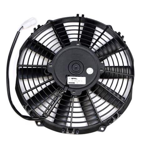 low profile electric radiator fan spal 10 quot low profile fan push straight