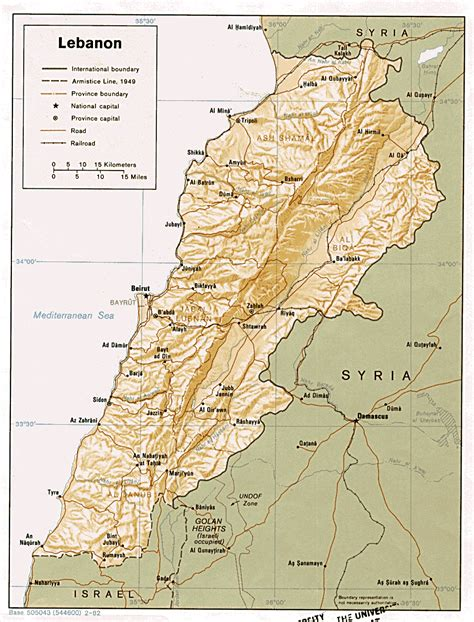 map of lebanon al mashriq lebanon maps