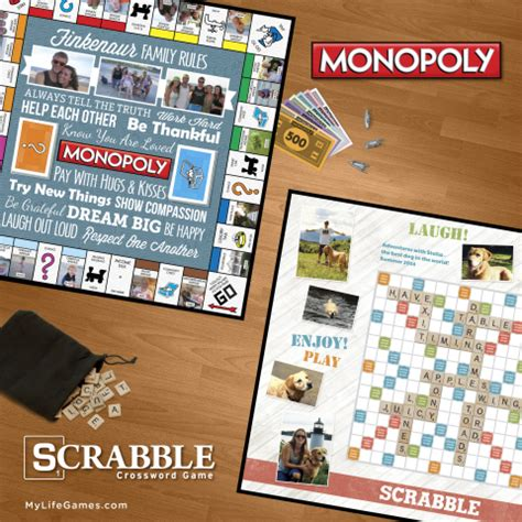Scrabble Monopoly 2 In 1 my announces custom designed monopoly and scrabble business wire