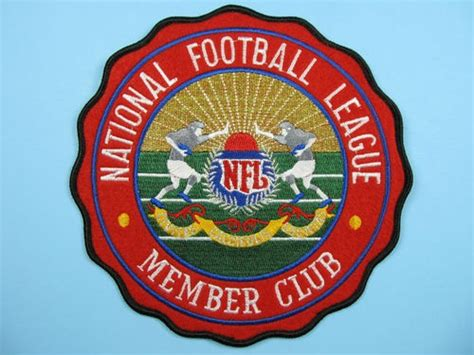 Dijamin Patch Logo Club nfl member club logo patch embroidered on felt 7 quot iron on jersey emblem irons