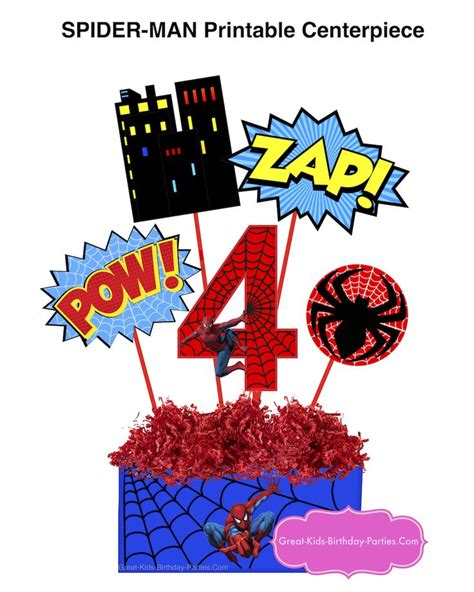 free printable spiderman birthday decorations 311 best images about superhero party on pinterest