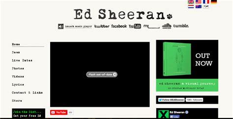 ed sheeran website website deconstruction ed sheeran official website a2