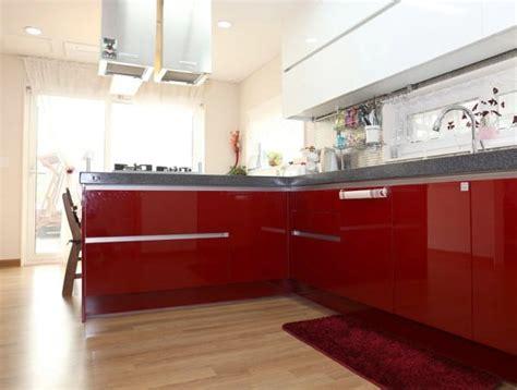 cocinas en blanco  rojo pintomicasacom