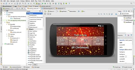 android studio video tutorial 2015 tutorial how many days left until christmas app in android