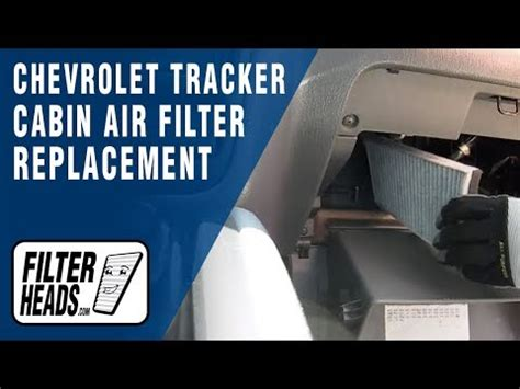 When To Replace Cabin Air Filter by How To Replace Cabin Air Filter Chevrolet Tracker