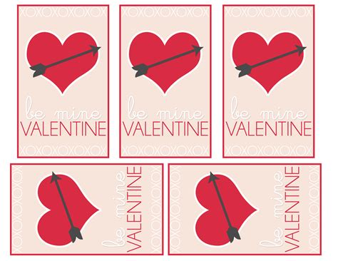 valentines day card for 6 best images of printable cards for classmates