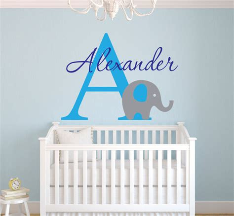 Personalized Wall Decals For Nursery Elephant Wall Decal Personalized Name Wall Decal Nursery