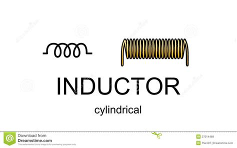electrical symbol for inductor inductor icon and symbol royalty free stock photos image 27014468