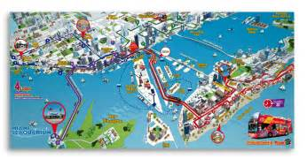Miami Bus Map by Hop On Hop Off Tour Miami