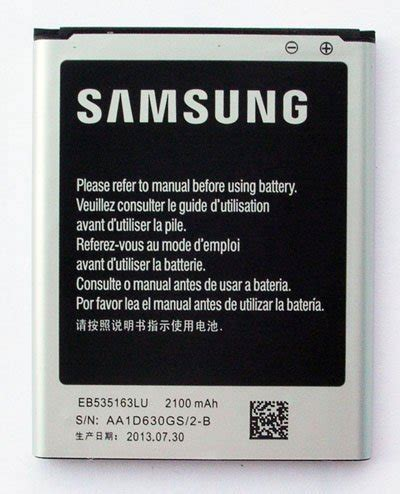 Baterai Samsung Eb535163lu Original Samsung Galaxy Grand samsung grand duos gt i9082 baterai eb535163lu 2100mah