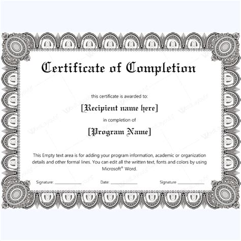 microsoft word certificate of completion template 89 award certificates for business and school events