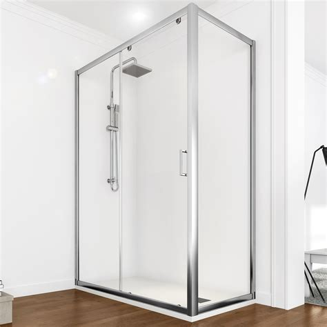 box doccia trasparente box doccia 70x100 porta scorrevole con parete fissa