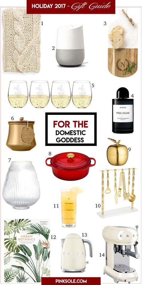 holiday 2017 gift guide for the domestic goddess