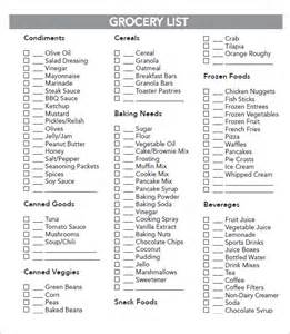Healthy Grocery Shopping List Template Sample Grocery List Template 9 Free Documents In Word