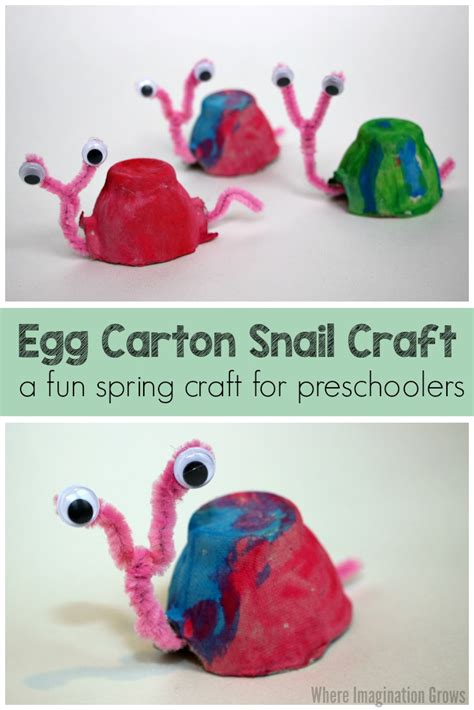 easy crown craft for kids where imagination grows egg carton snail craft for kids where imagination grows