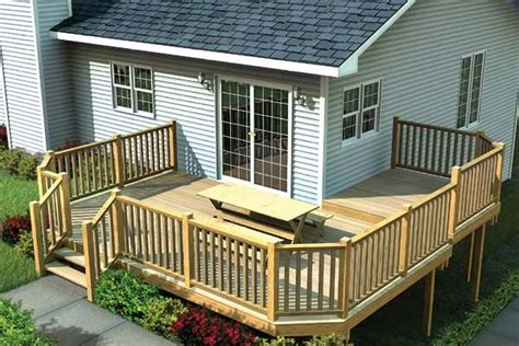 wrap around deck ideas multi level deck w angle corners project plan 90041