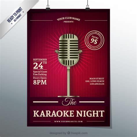 imagenes retro karaoke karaoke night poster vector free download