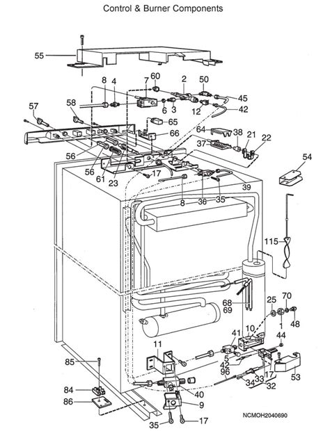 refrigerator parts dometic refrigerator parts diagram