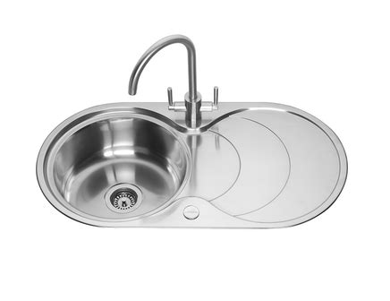 round kitchen sink and drainer lamona round bowl sink with drainer stainless steel