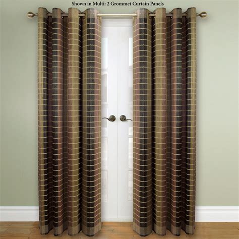 Bamboo Drapes With Grommets bamboo light filtering grommet panel