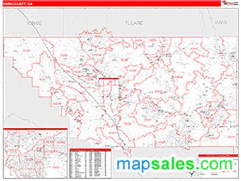 zip code map bakersfield ca kern county ca zip code wall map red line style by marketmaps