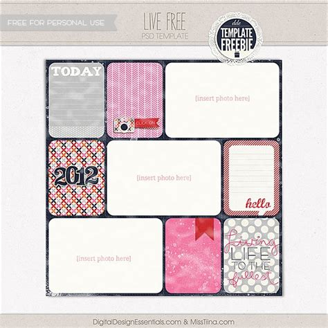 14 Best Images About Project Life On Pinterest Free Printable Project Life Freebies And Free Free Scrapbook Templates