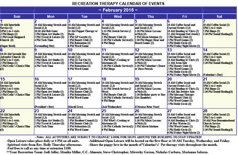 Calendar Home Image Gallery Nursing Home Activity Calendar