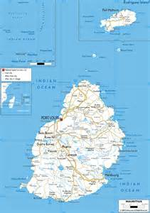 detailed clear large road map of mauritius ezilon maps