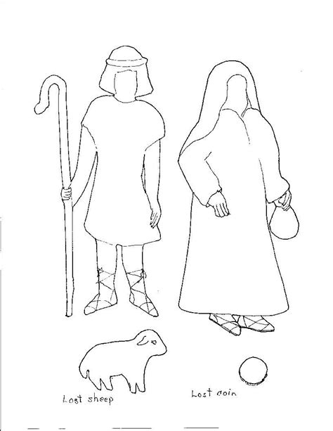 free coloring pages of parable of the lost coin