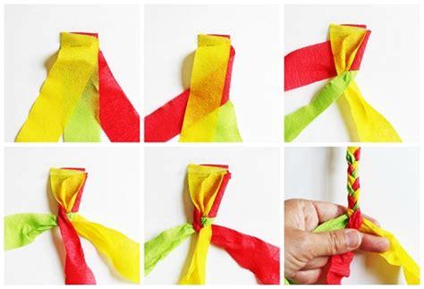 cadenas de flores de papel crepe cadenas de papel crepe imagui