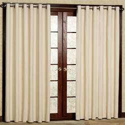 Silver Kitchen Curtains by Sliding Glass Door Plus Cream Blind Combined With White