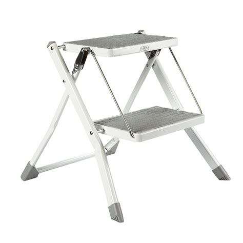 Folding Step Stool For by Polder Slim Folding Step Stool The Container Store