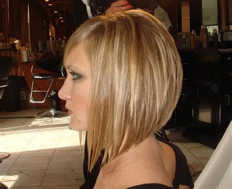 mid length hair cuts longer in front long bob haircuts back view