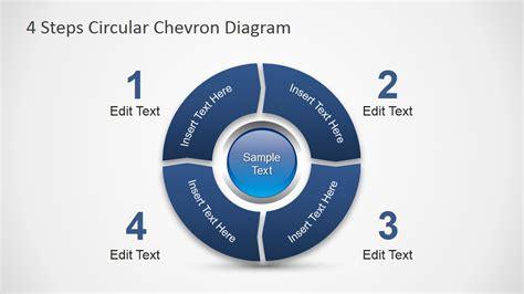 4 Steps Circular Chevron PowerPoint Diagram   SlideModel