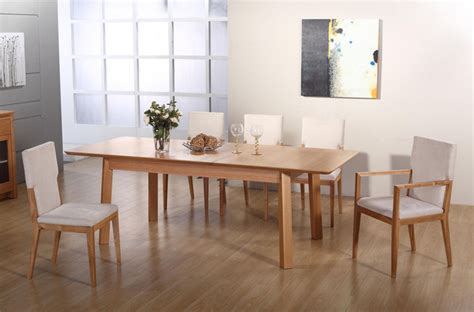 designer kitchen tables extendable rectangular wooden and microfiber seats