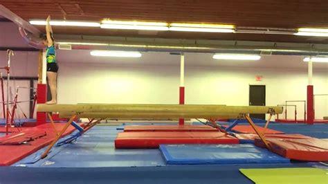 gymnastics layout half twist layout full twist balance beam heaven latimer