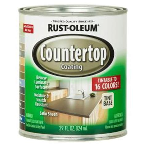 rust oleum specialty 1 qt countertop tintbase kit 246068
