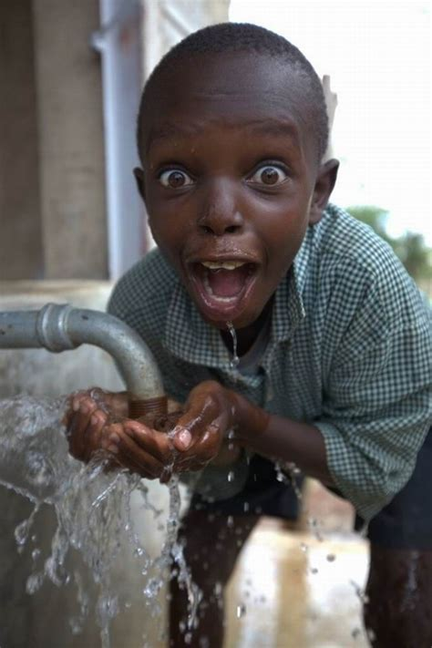 African Kid Meme Clean Water - can t help but smile thankful water water and