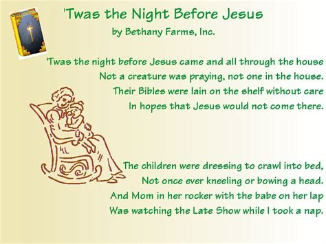 Twas The Night Before Christmas Christian Version Twas The Light Before