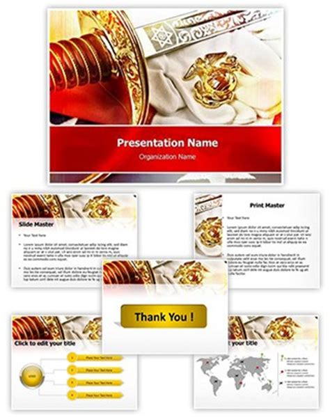 marine corps powerpoint templates professional marine corps editable powerpoint template