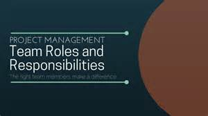 corporate roles and responsibilities template project team roles and responsibilities