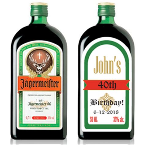 mini jagermeister personalized labels 10 pcs