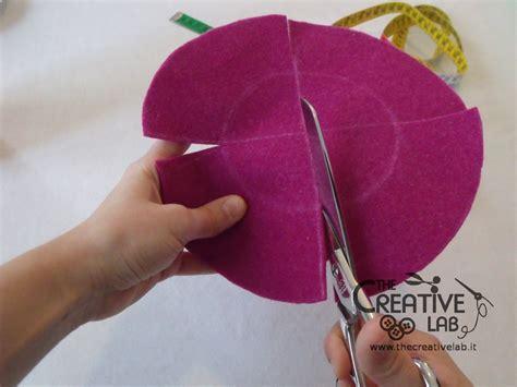 fiori di pannolenci come farli tutorial come fare svuotatasche portagioie feltro fai da