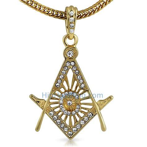 free masonic gold pendant chain small gold small
