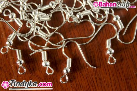 Bahan Craft Kerajinan Renda Kait Ka01 bahan kerajinan kait anting silver